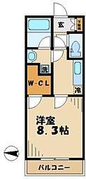 メゾンドアンジュ[2階]の間取り