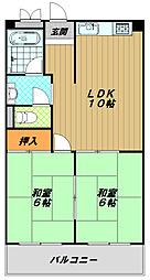 ハイツOGI[1階]の間取り