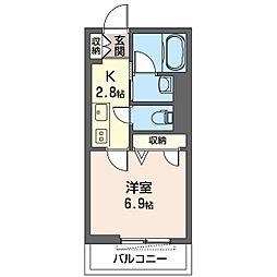 仮)大田区南馬込1丁目シャーメゾン 1階1Kの間取り