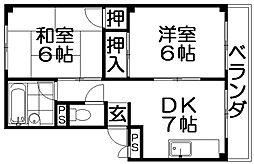 第2パークサイドハイツ[3階]の間取り