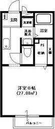千葉県松戸市六実5丁目の賃貸アパートの間取り