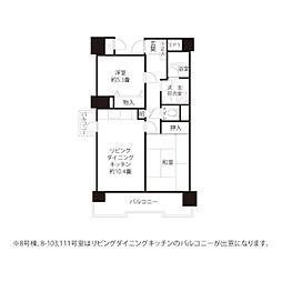 JKK東京 コーシャハイム臨海町二丁目 4階2LDKの間取り