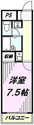 埼玉県所沢市緑町2丁目の賃貸マンションの間取り