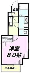 多摩都市モノレール 上北台駅 徒歩9分の賃貸アパート 1階1Kの間取り