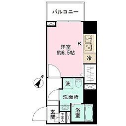 N-stage Toyoda 6階ワンルームの間取り
