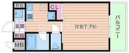 大阪府箕面市如意谷2丁目の賃貸マンションの間取り