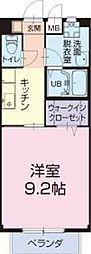 近江鉄道近江本線 鳥居本駅 徒歩5分の賃貸アパート 1階1Kの間取り