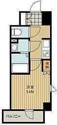 西武新宿線 新所沢駅 徒歩2分の賃貸マンション 10階1Kの間取り