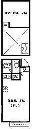 神奈川県川崎市高津区諏訪1丁目の賃貸アパートの間取り