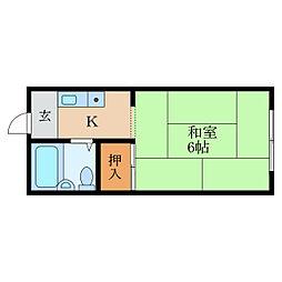 栗東苅原アパートメント[1階]の間取り