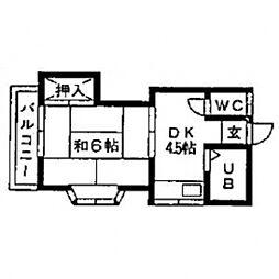 山田コーポ[203号室]の間取り