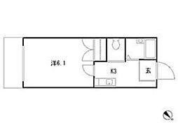 アネックス駒沢公園[2階]の間取り