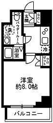 都営新宿線 浜町駅 徒歩6分の賃貸マンション 3階1Kの間取り