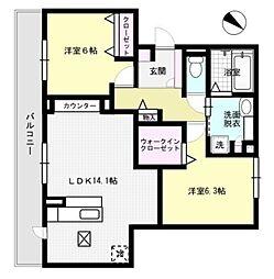ジョアセジュール博多南2号館[2階]の間取り