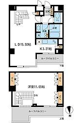 都営三田線 白金高輪駅 徒歩7分の賃貸マンション 4階1LDKの間取り