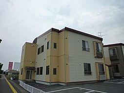 新潟県新発田市富塚町1丁目の賃貸アパートの外観