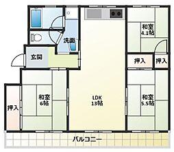 ステラ加古川3号棟[3階]の間取り