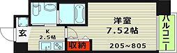 サムティ京橋Fluss(旧ドゥエリング京橋) 4階1Kの間取り