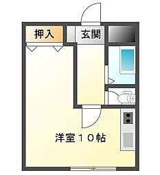 ステューディオ福島[1階]の間取り