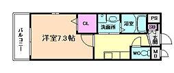 ハピネス福島[2階]の間取り