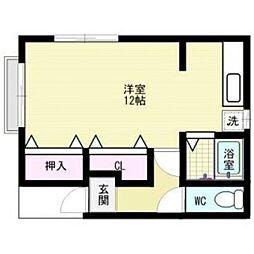 ウイング須玖[2階]の間取り