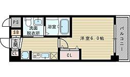 エステムコート新大阪VIIIレヴォリス[8階]の間取り