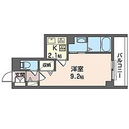 仮)新松戸4丁目ホテルライクシャーメゾン 1階1Kの間取り