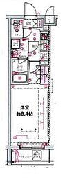 都営三田線 西台駅 徒歩10分の賃貸マンション 3階1Kの間取り