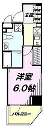 JR中央線 国立駅 徒歩2分の賃貸マンション 3階1Kの間取り