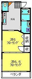 Mon chou chou[201号室]の間取り