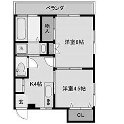 大庭ビル[3階]の間取り