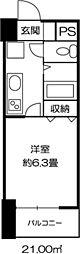 ドミール錦糸町[0208号室]の間取り