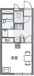 西武国分寺線 鷹の台駅 徒歩18分の賃貸アパート 2階1Kの間取り