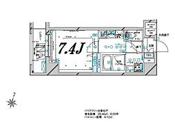 メインステージ板橋本町駅前II 12階1Kの間取り