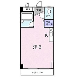 ロイヤルマンション大和町[2階]の間取り