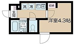 JR中央線 高円寺駅 徒歩10分の賃貸アパート 2階1Kの間取り