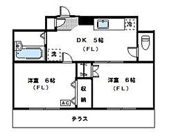 神奈川県川崎市中原区上小田中3丁目の賃貸マンションの間取り