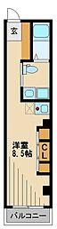 タークプレイス 2階ワンルームの間取り