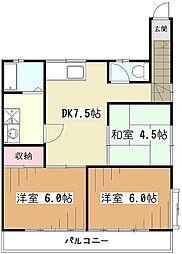 エスカイヤウチノII[2階]の間取り