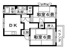 テトラハウス[1階]の間取り