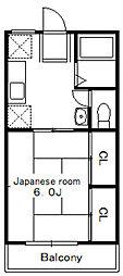 ベルゾーネ聖香2[2階]の間取り