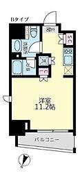 東京メトロ丸ノ内線 後楽園駅 徒歩9分の賃貸マンション 3階ワンルームの間取り