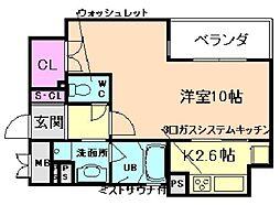 リーガル西天満III[12階]の間取り