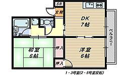 モアクレスト北花田[1階]の間取り