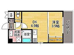 ルネッサンス21別府[4階]の間取り