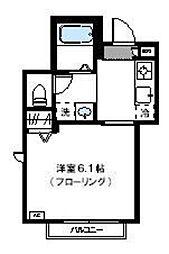 神奈川県川崎市高津区二子3丁目の賃貸マンションの間取り