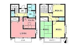 [テラスハウス] 神奈川県横浜市都筑区北山田2丁目 の賃貸【/】の間取り