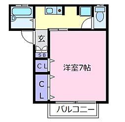 ハイツフクシマ[1階]の間取り