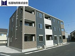 愛知県豊橋市大岩町字荒古の賃貸アパートの外観