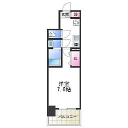 Osaka Metro御堂筋線 大国町駅 徒歩1分の賃貸マンション 5階1Kの間取り
